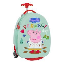 "TROLLEY INFANTIL SAFTA PEPPA PIG 16"" 280X230X430 MM"