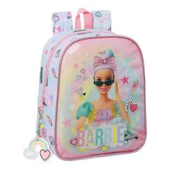 "MOCHILA ESCOLAR SAFTA BARBIE ""GIRL POWER"" GUARDERIA ADAPTABLE A CARRO 220X100X270 MM"