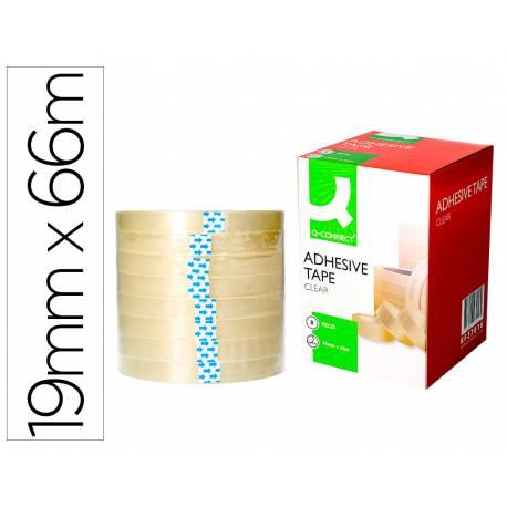 Cinta marca Q-Connect adhesiva 66m x 19mm
