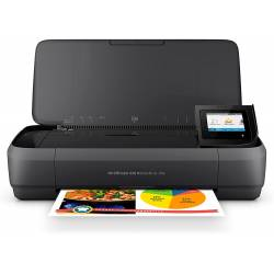 EQUIPO MULTIFUNCION PORTATIL HP OFFICEJET 250 WIFI 4800X1200 TINTA 10 PPM NEGRO 7 COLOR PPM ESCANER COPIADORA