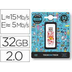MEMORIA USB TECH ON TECH EMOJITECH HEART EYES 32 GB