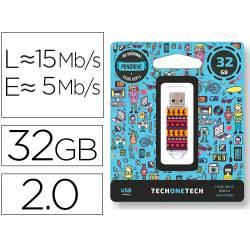 MEMORIA USB TECH ON TECH TRIBAL QUESTIONS 32 GB