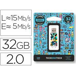 MEMORIA USB TECH ON TECH KALEYDOS 32 GB