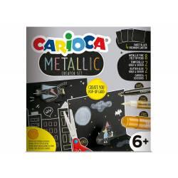 SET DE DIBUJO CARIOCA METALLIC POP UP CARD CREATOR 3D 17 PIEZAS