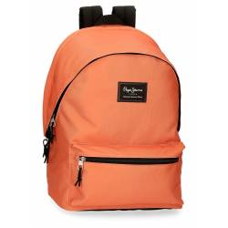 Mochila portaordenador Pepe Jeans Aris Evergreen Naranja 31 cm x 44 cm x 17,5 cm