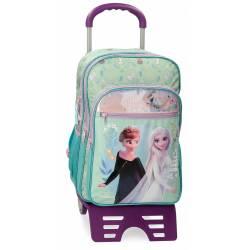 Mochila Escolar Frozen Follow Your Dreams Dos compartimentos con carro 31 cm x 42 cm x 13 cm