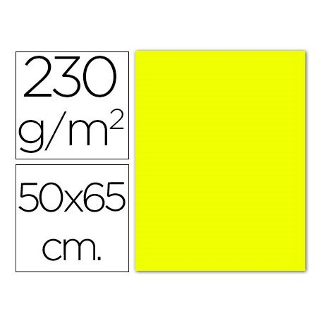 Cartulina color amarillo fluorescente Sadipal
