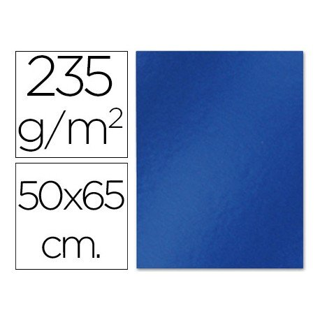 Cartulina metalizada Liderpapel color azul 235 g/m2