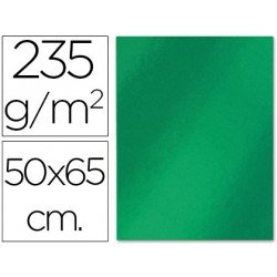 Cartulina metalizada Liderpapel color verde 235 g/m2