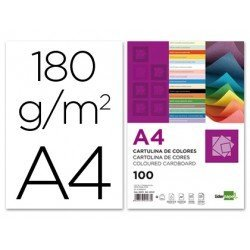 Cartulina Liderpapel color blanco a4 180 g/m2