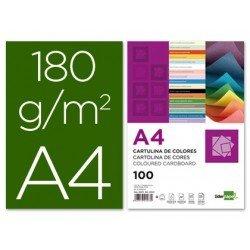 Cartulina Liderpapel color verde billar a4 180 g/m2