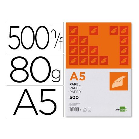 Papel Din A5 Liderpapel 80 g/m2 Escritura