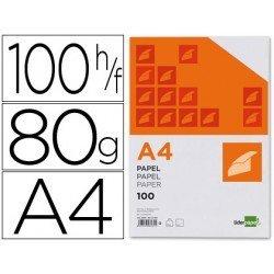 Papel de escritura A4 Liderpapel 80 g/m2 paquete 100 hojas