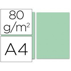 Papel color Liderpapel color verde A4 80 g/m2
