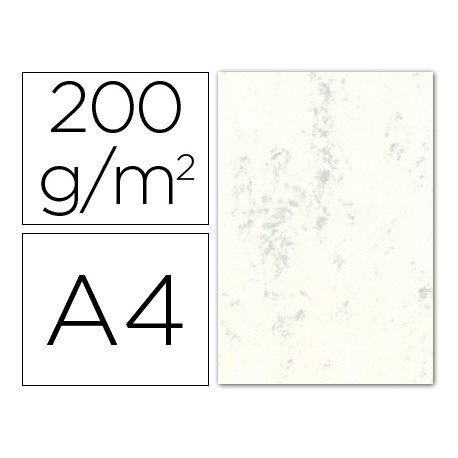 Cartulina marmoleada DIN A4 color Gris