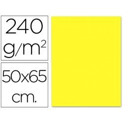 Cartulina Liderpapel color amarillo 240 g/m2