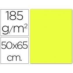 Cartulina Guarro amarillo limon 500 x 650 mm de 185 g/m2