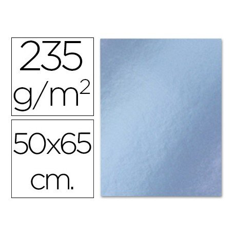 Cartulina metalizada Liderpapel color plata 235 g/m2