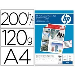 Papel HP Din A4 profesional mate de 120g