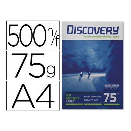 Papel multifuncion A4 Discovery 75 g/m2