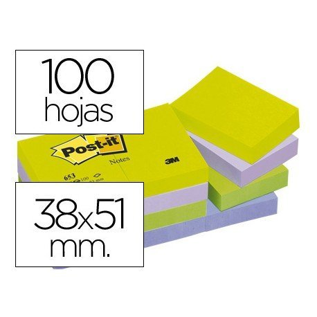 Bloc quita y pon Post-it ® colores ultra intensos