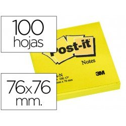 Bloc quita y pon Post-it ® amarillo neon 76 x 76 mm