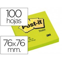 Bloc quita y pon Post-it ® verde 76 x 76 mm