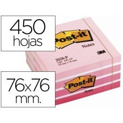 Bloc quita y pon Post-it ® rosa neon