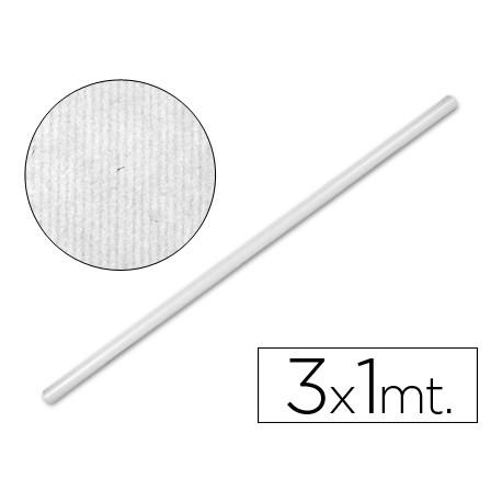 Rollo papel tipo kraft Liderpapel 3 x 1 m blanco