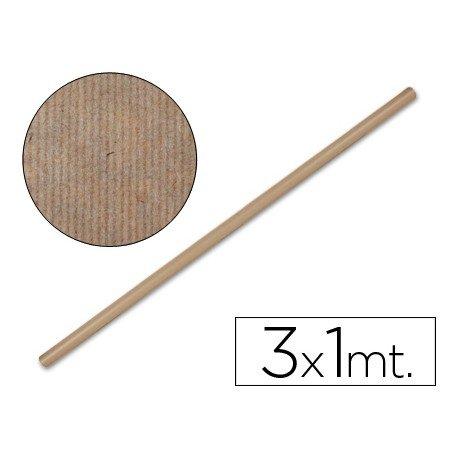 Bobina papel tipo kraft Liderpapel 3 x 1 m marron