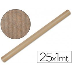 Bobina papel tipo kraft Liderpapel 25 x 1 m marron
