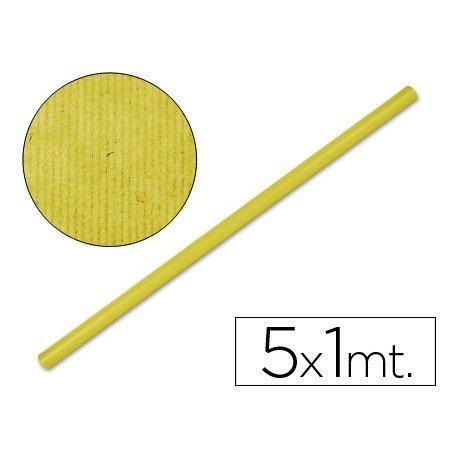 Bobina papel tipo kraft Liderpapel 5 x 1 m amarillo