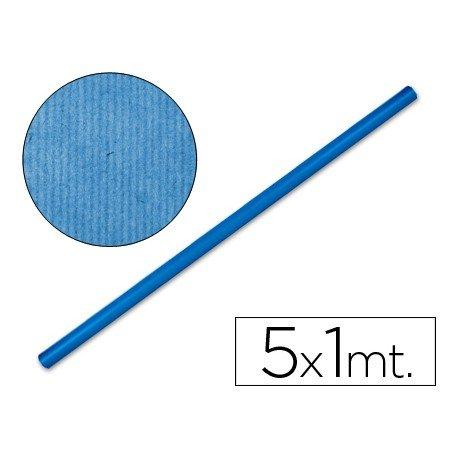 Bobina papel tipo kraft Liderpapel 5 x 1 m azul