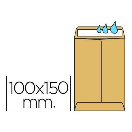Sobres bolsa kraft Salarios Liderpapel, 100x150mm y 60g/m2