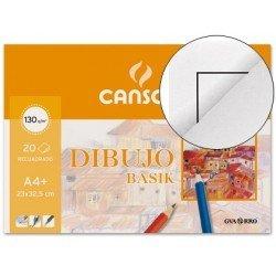Bloc de dibujo Canson Din A4 encolado gramaje 130 g/m2