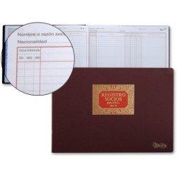 Libro Miquelrius tamaño folio apaisado Registro de socios para S.R.L