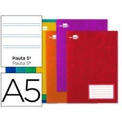 Libreta escolar Din A5 grapada marca Liderpapel pauta 2.5 mm