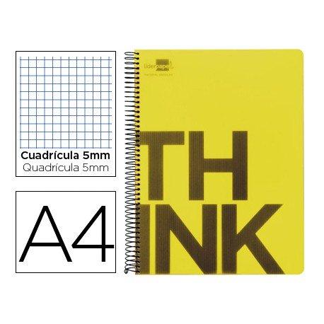Bloc Din A4 Liderpapel serie Think cuadricula de 5 mm amarillo