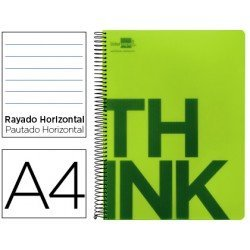 Bloc Din A4 Liderpapel serie Think rayado horizontal verde