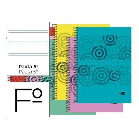 Bloc espiral marca Liderpapel serie Classic pauta 2.5 mm
