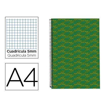 Bloc Din A4 espiral Microperforado Tapa forrada Multilider Liderpapel verde