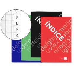 Libreta Liderpapel Indice Flexible
