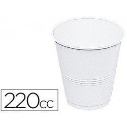 Vaso de plástico blanco 220 cc