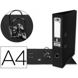 Archivador de palanca marca Liderpapel Documenta negro lomo 75 mm