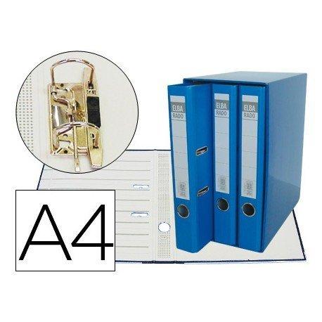 Modulo con 3 archivadores Elba de palanca Azul