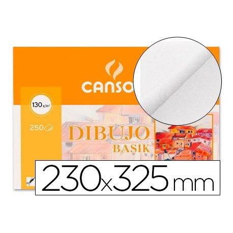 Papel dibujo Canson 230x325 mm gramaje 130g/m2
