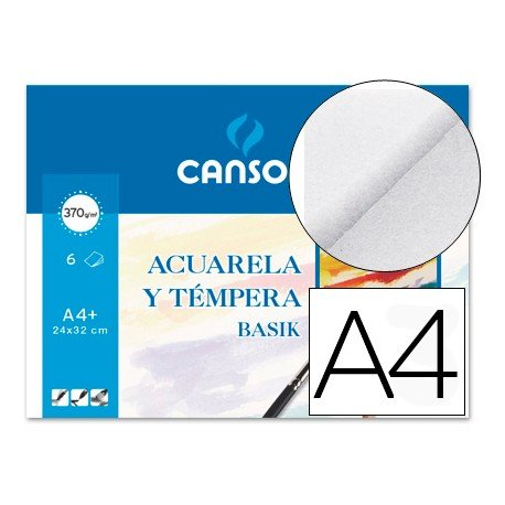 Papel acuarela Canson Din a4 gramaje 370 g/m2