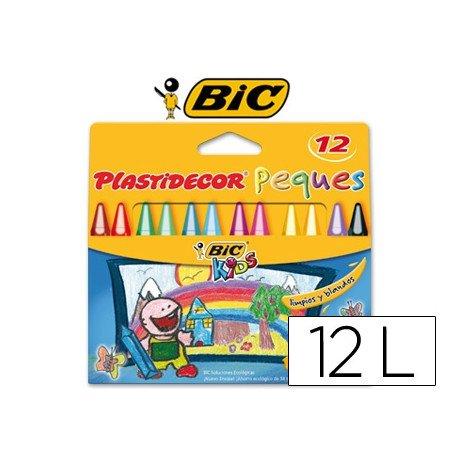Lapices cera Plastidecor Peques caja de 12 colores surtidos