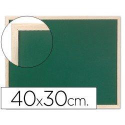Pizarra Q-Connect verde marco de madera 40x30 cm