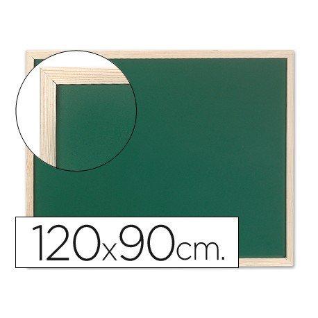 Pizarra Q-Connect verde marco de madera 120x90 cm